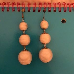 super cute white drop earrings